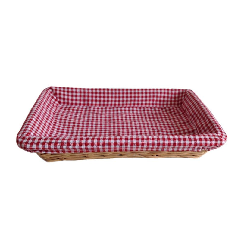 Flat Rectangular Wicker Tray