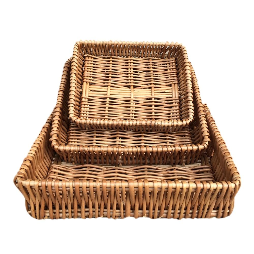 Shallow Wicker Tray