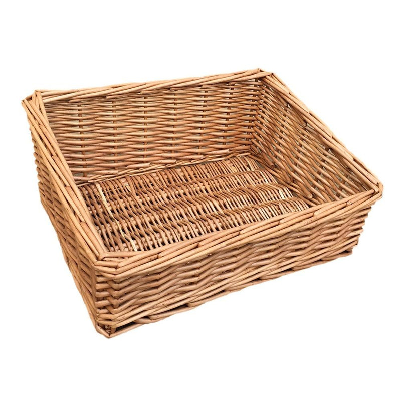 Light Steamed Wicker Display Tray
