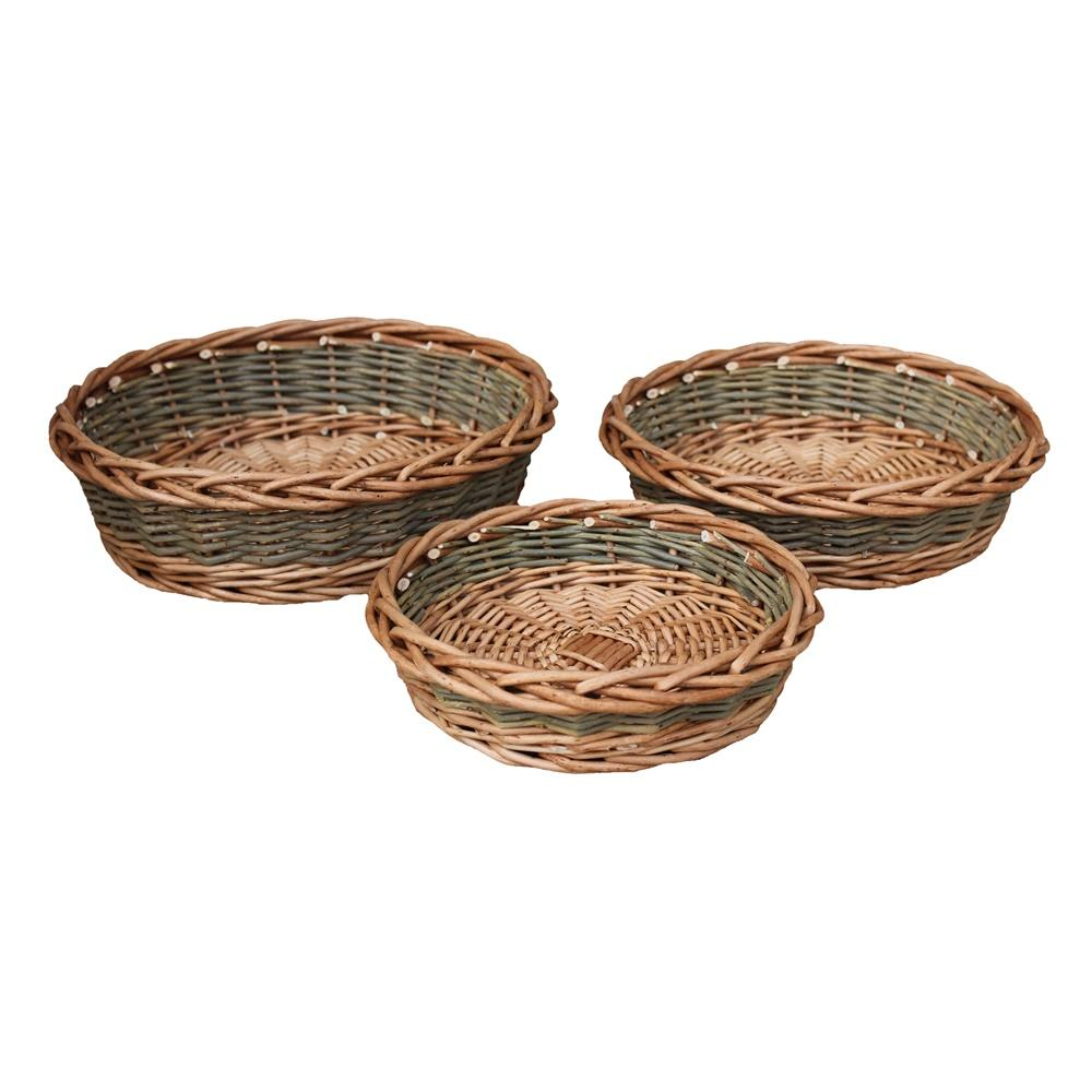 Unpeeled Willow Wicker Round Tray