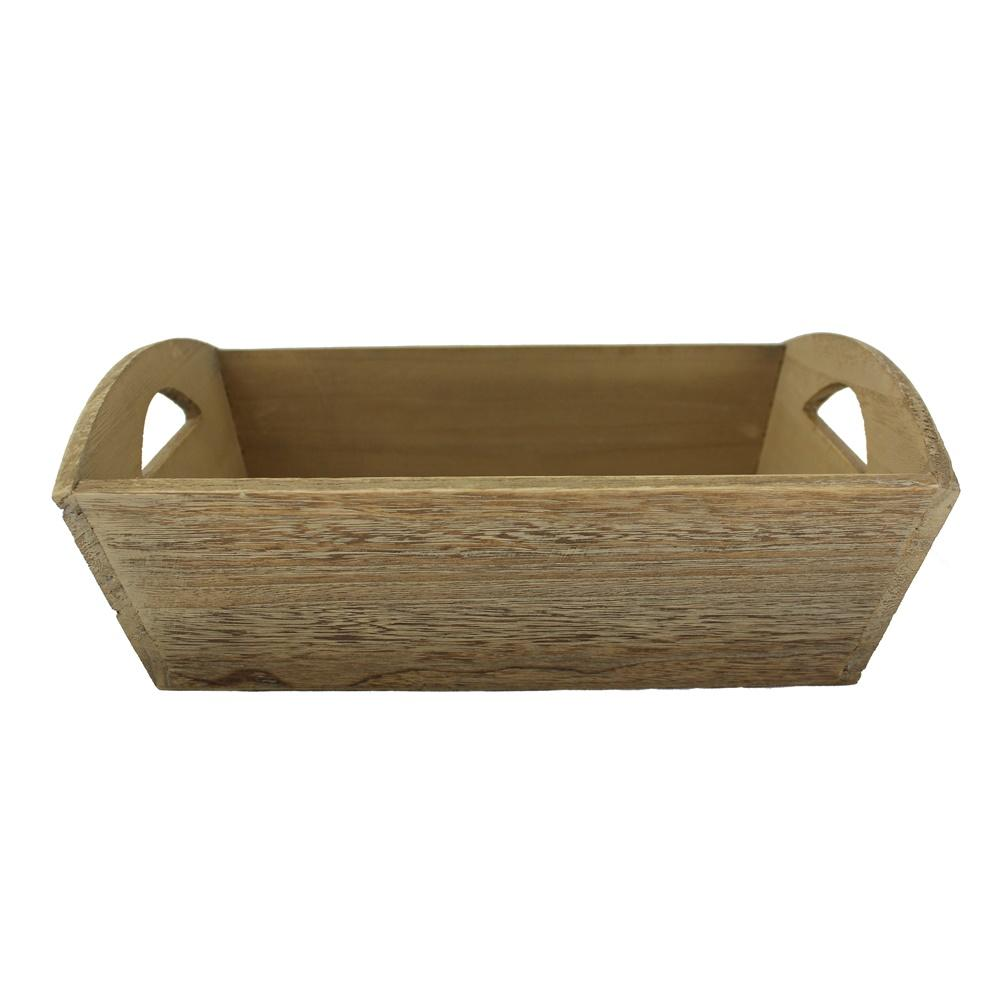 Oak Effect Small Wooden Storage Tray