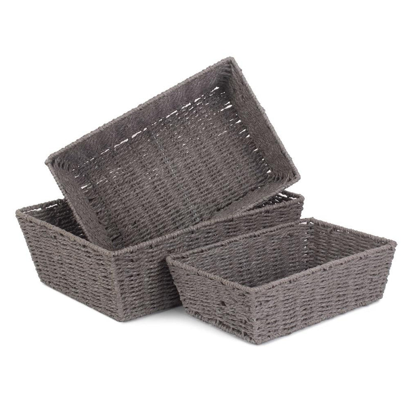 Grey Paper Rope Display Tray