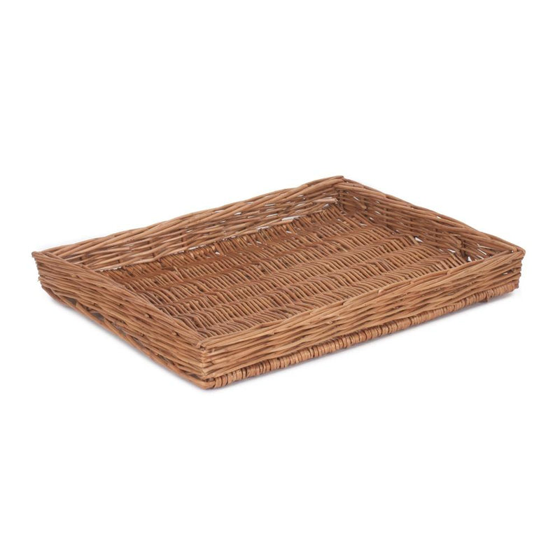 Wicker Light Steamed Flat Serving Tray