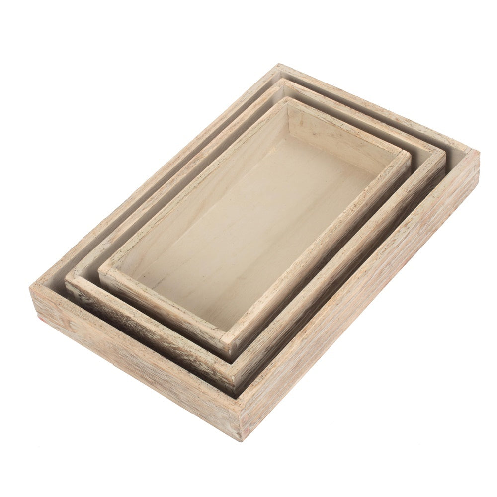 Shallow Wooden Plinth Tray