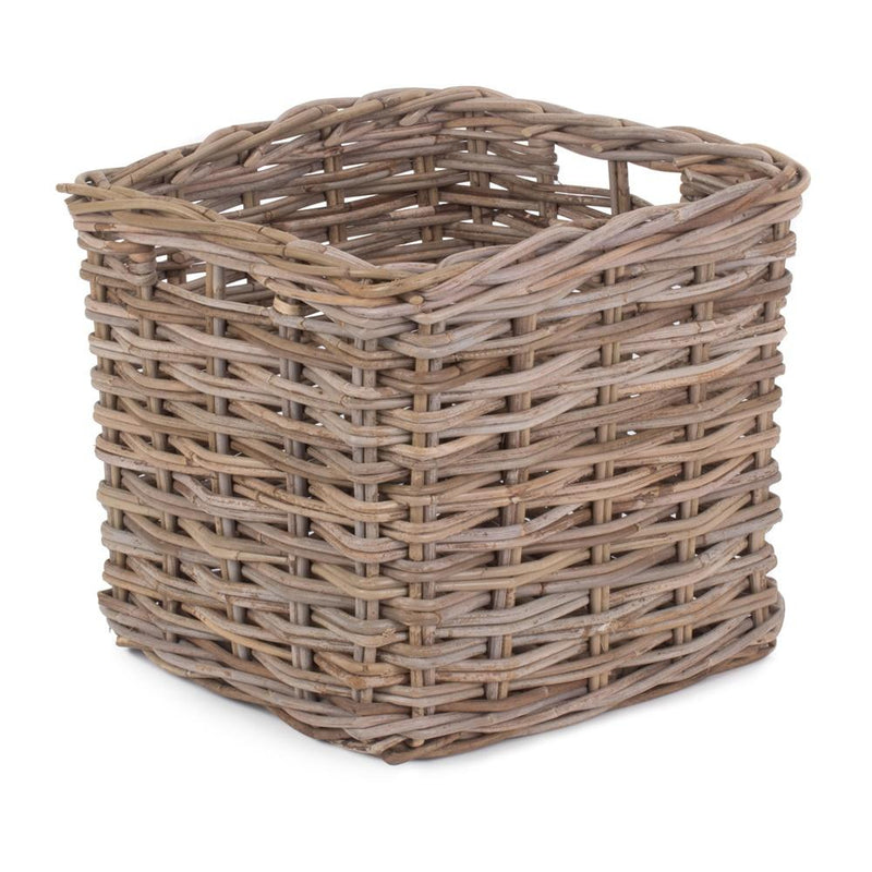 Square Kubu Grey Rattan Storage Basket