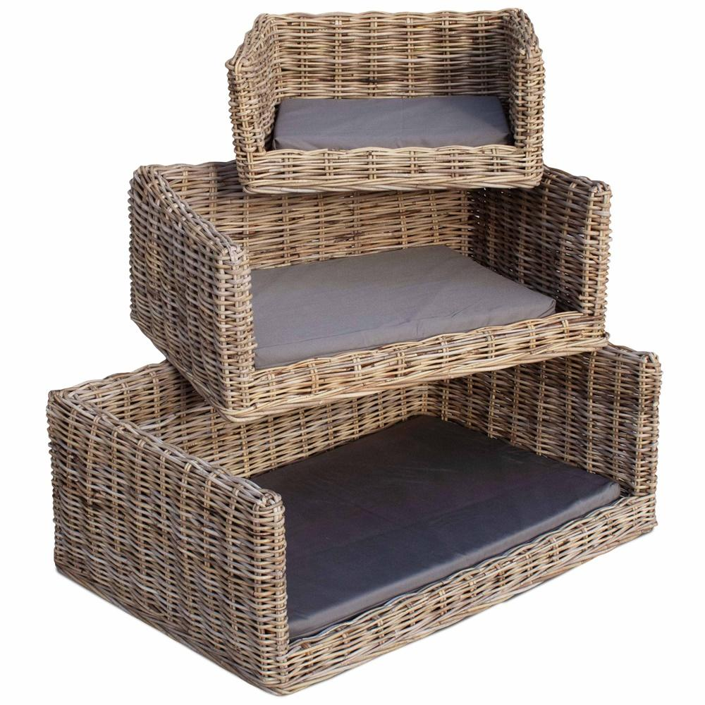 Luxury Rectangular Rattan Dog Sofa Bed