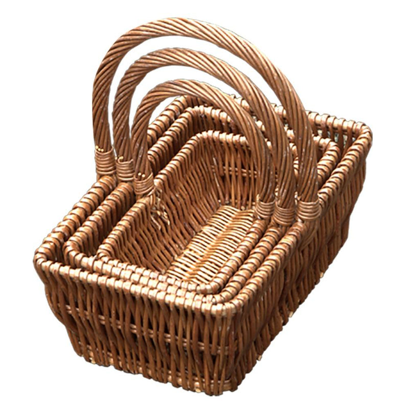 Set of 3 Rectangular Gift Shopping Baskets