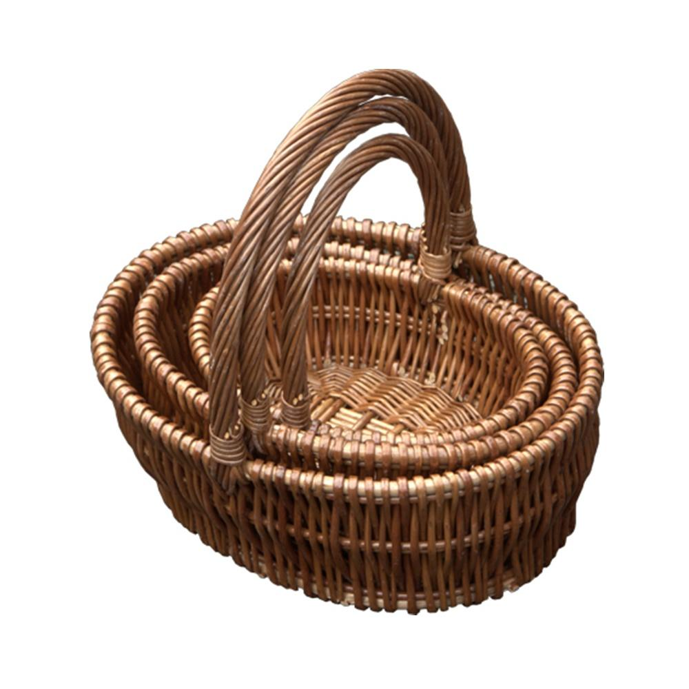 Set of 3 Oval Gift Shopping Baskets