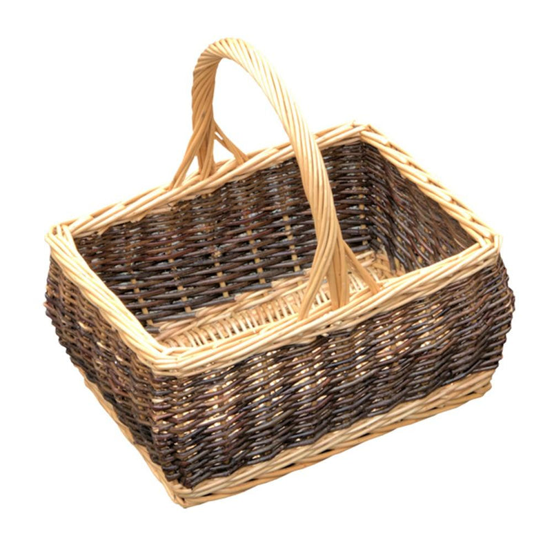 Rustic Rectangular Shopping Basket