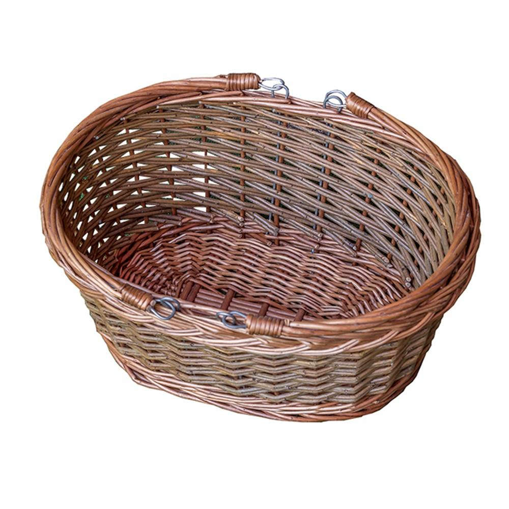 Oval Wicker Swing Handle Shopping Basket
