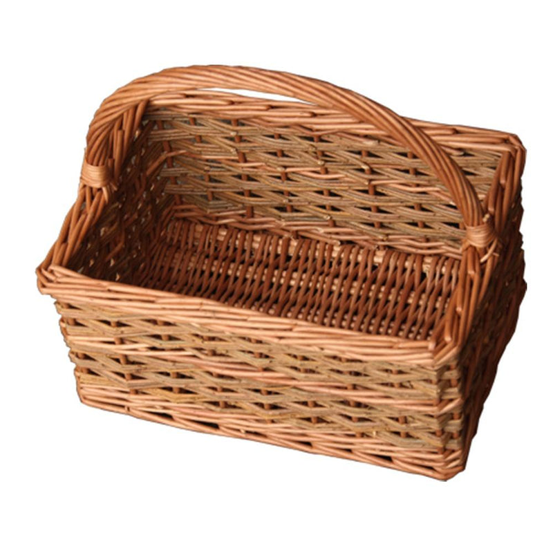 Small Rustic Rectangular Shopping Basket