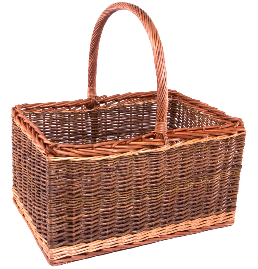 Bakers Shopping Basket Green Finish