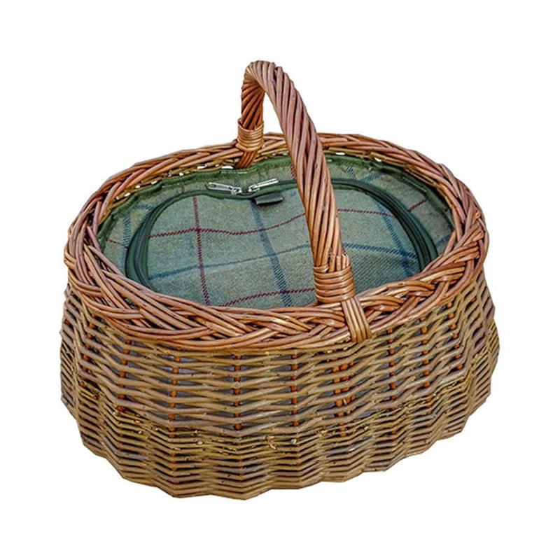 Deluxe Wicker Car Basket with Fitted Cooler