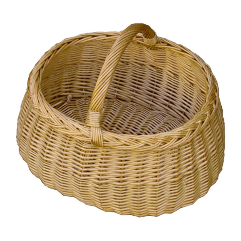 Deluxe Wicker Car Shopping Basket
