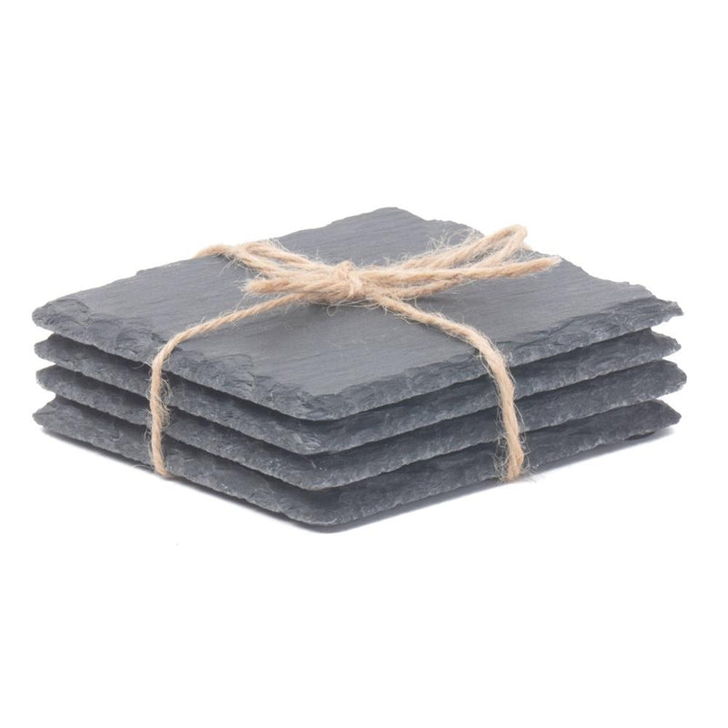 Drinks Square Slate Coaster Set 4