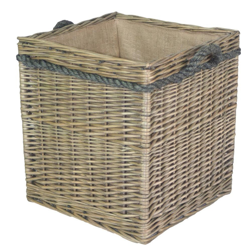 Square Rope Handled Log Storage Basket