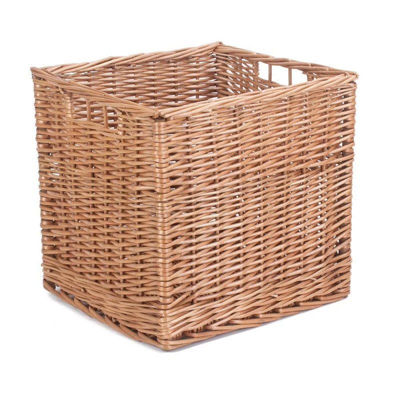 Square Double Steamed Wicker Storage Basket