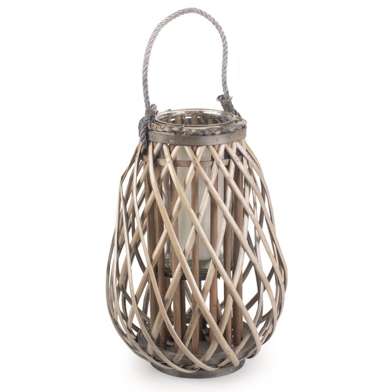 Split Grey Willow Raindrop Lantern