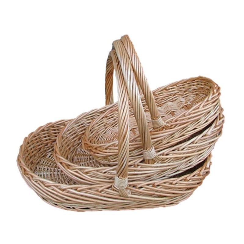 Set of 3 Oval Buff Garden Trug