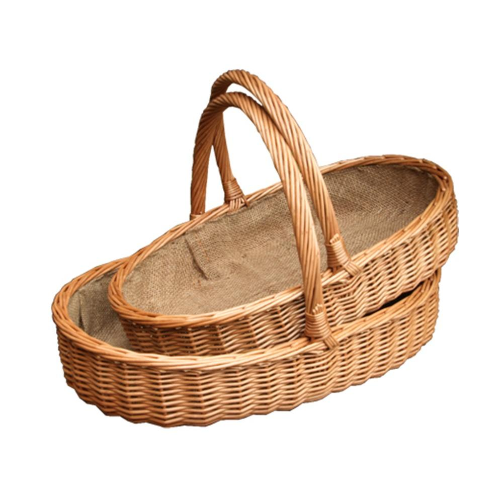 Set of 2 Lined Harrogate Garden Trugs