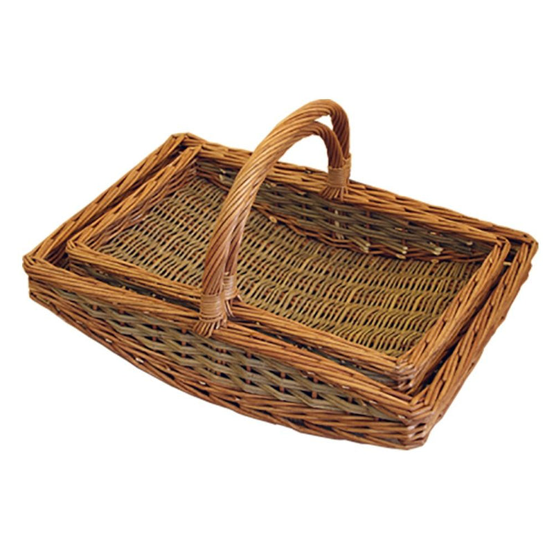 Set of 2 Boat Garden Trugs
