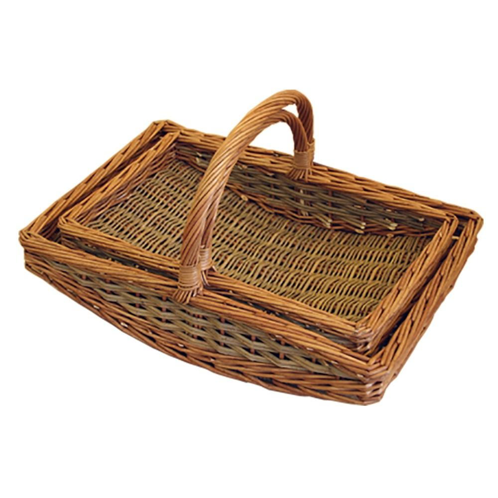 Set of 2 Large Boat Garden Trugs