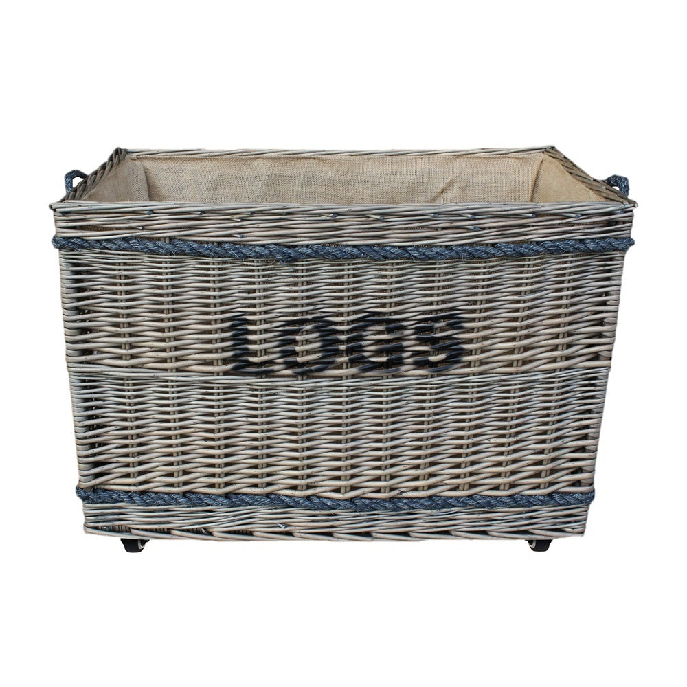 Jumbo Log Basket on Wheels