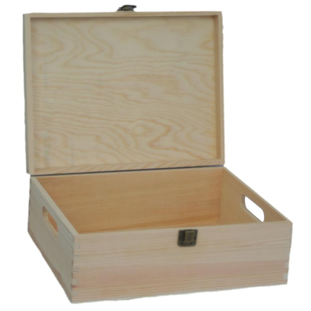 30cm Wooden Bottle Carrier Box