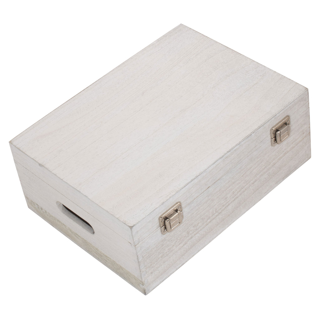 White Wash Wooden Box