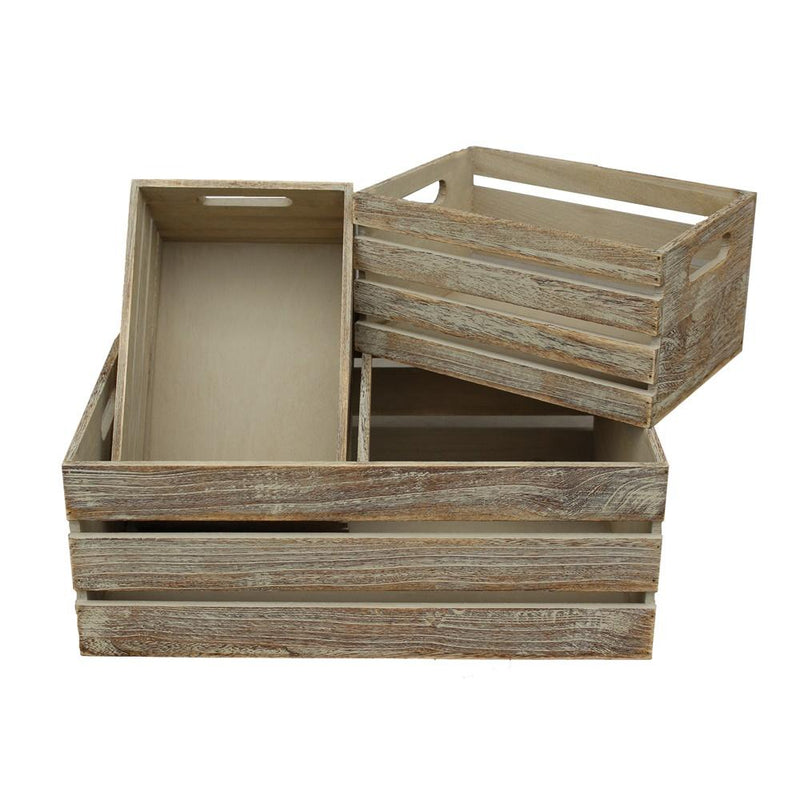 Oak Effect Wooden Open Top Storage