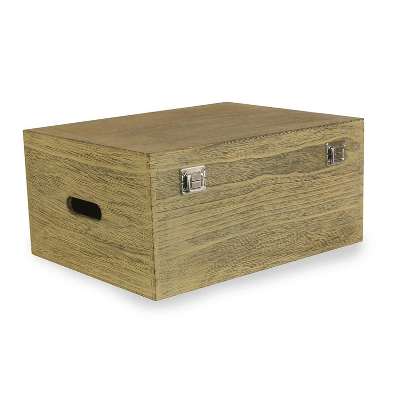 40cm Oak Effect Wooden Box