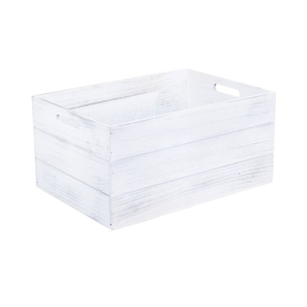 Extra Large Vintage White Wooden Crate