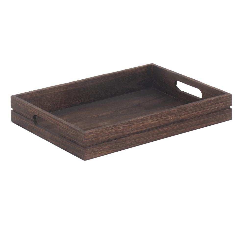 Dark Wooden Tray