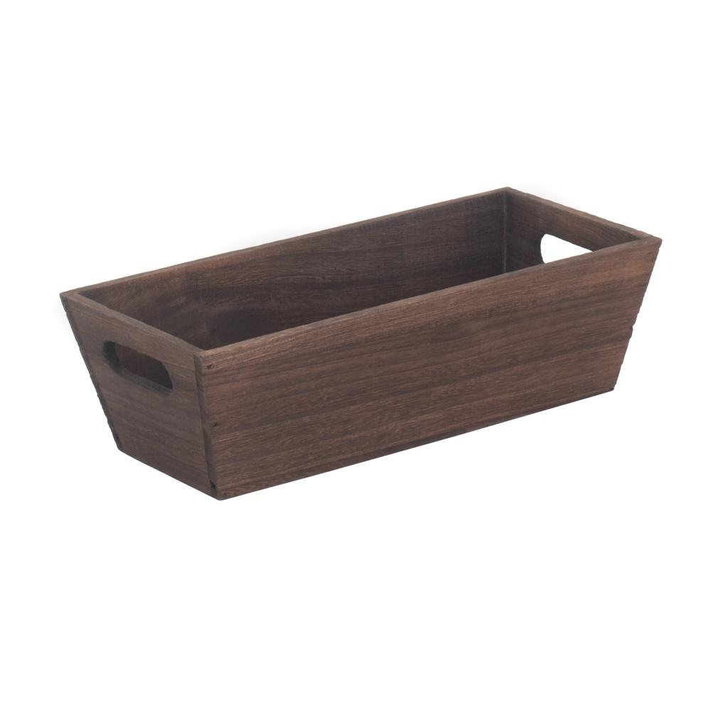 Dark Wooden Packing Trough
