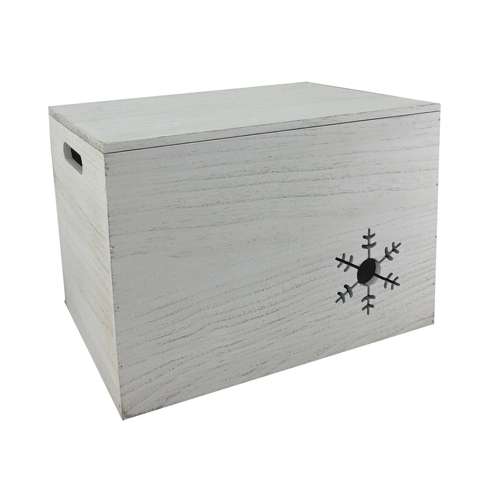 Wooden Christmas Snowflake Storage Box