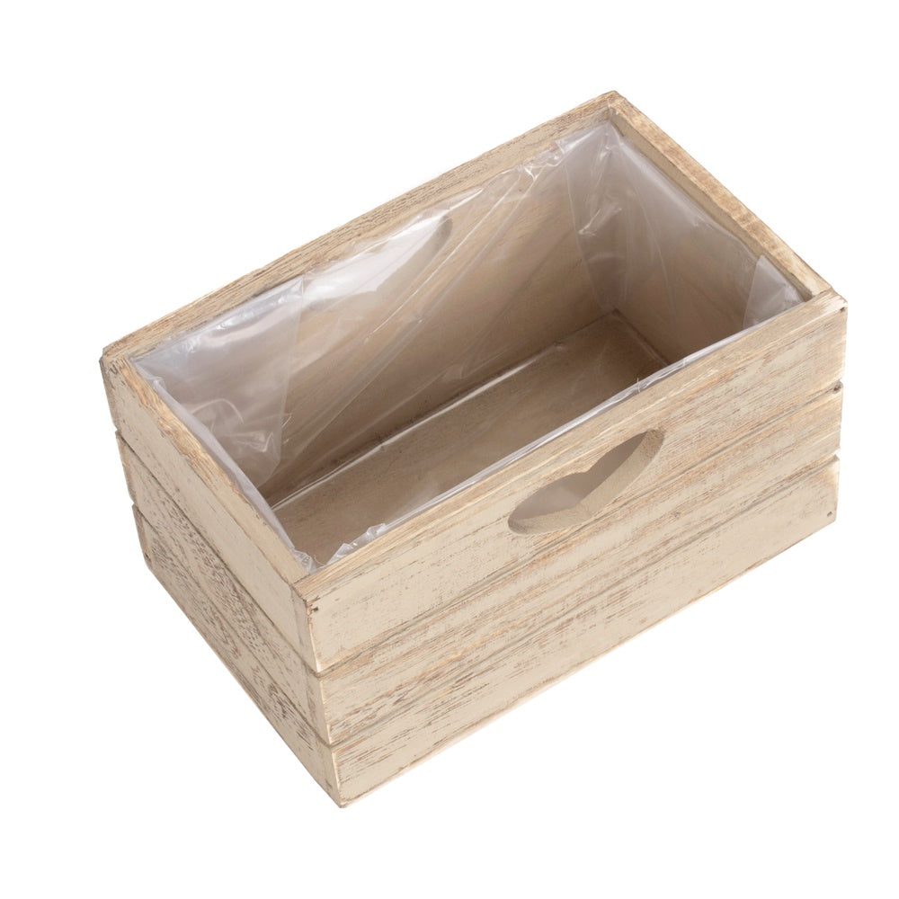 Oak Effect Wooden Planter with Plastic Lining