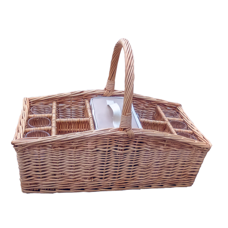 Drinks Baskets Carrier with Cool Bag