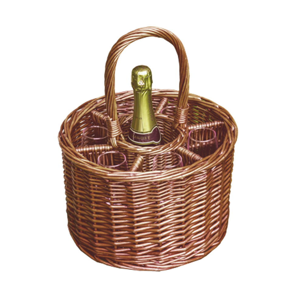 Small Deluxe Single Bottle Drinks Basket