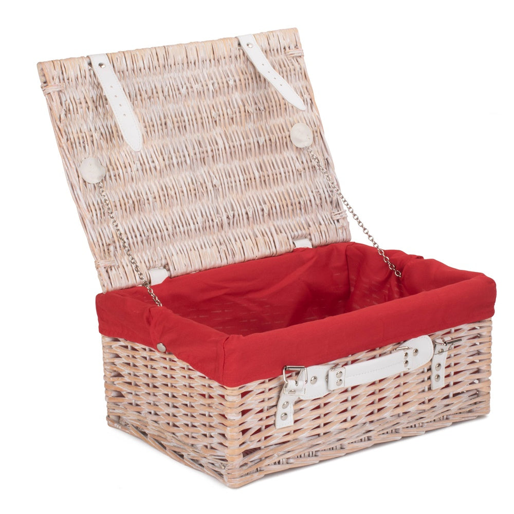 Wicker 41cm White Hamper