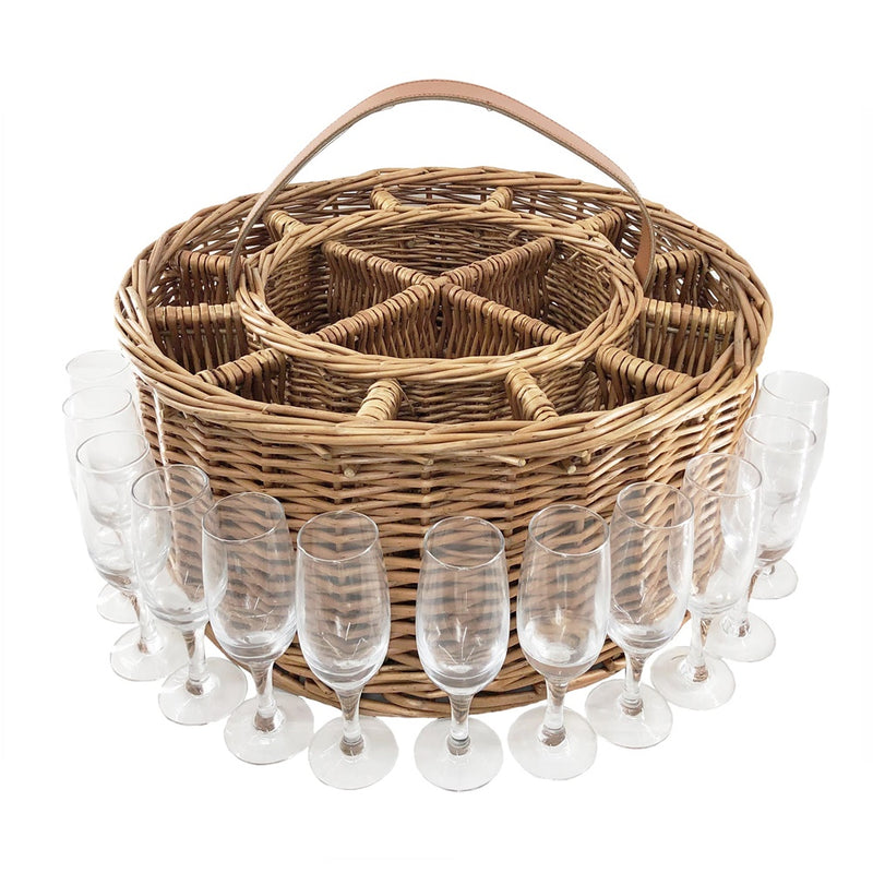 Wicker Light Steamed Garden Party Basket