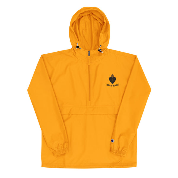 KOH Embroidered Champion Packable Jacket Orange