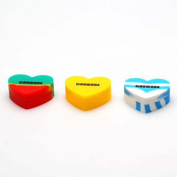 DabWare Heart Shape 17ml Silicone Jar