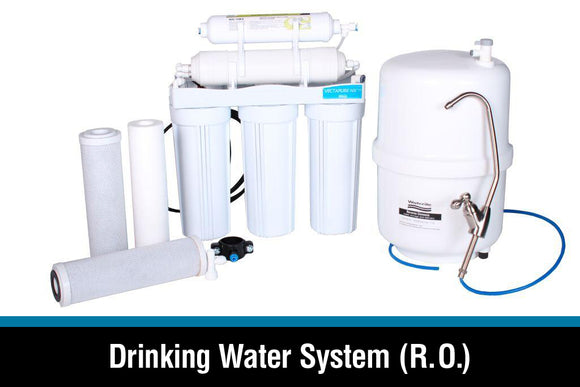DRINKING WATER SYSTEMS, REVERSE OSMOSIS FILTERS, UV LIGHT AND OTHER FILTERS
