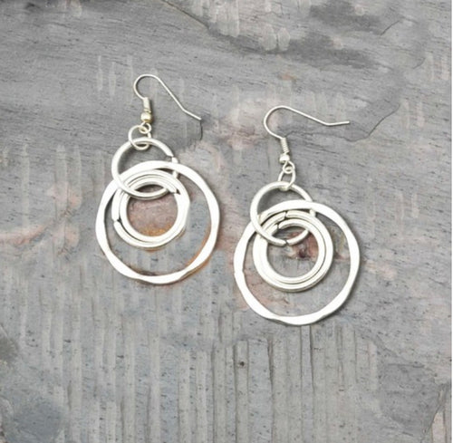 Beautiful Karma Circles Earrings