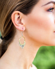 Load image into Gallery viewer, Blue water earrings