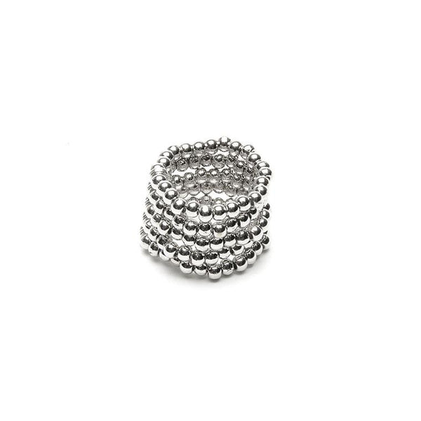 Strands of Silver band Stretch ring