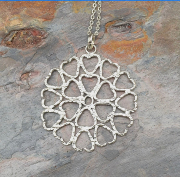 Flower Hearts Necklace