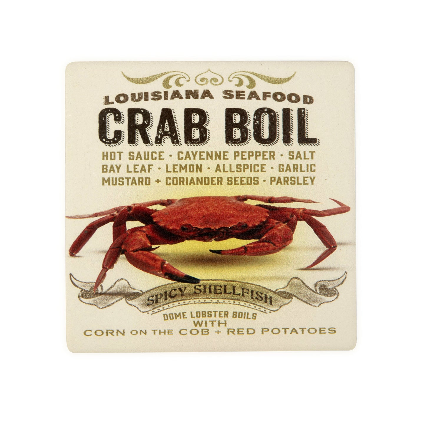 CT93 Crab Boil Coaster