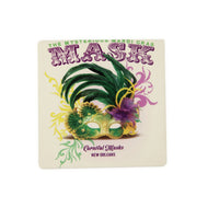 CT84 Mardi Gras Mask Coaster