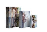 KSH200 RIVER BOATS SET OF 3 BOOK BOXES